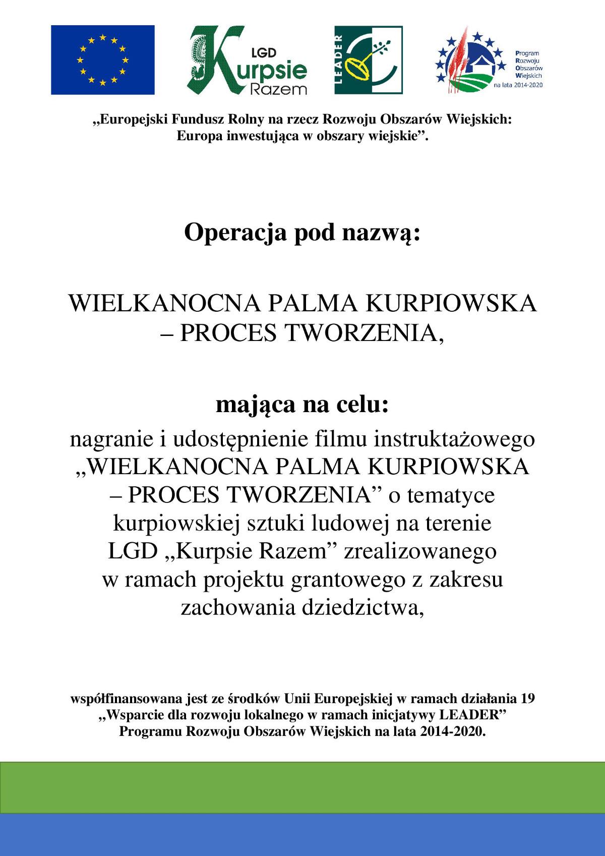 WIELKANOCNA PALMA KURPIOWSKA - PROCES TWORZENIA